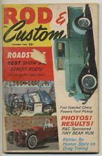 rod & custom magazine vtg oct 1960 hot rod mini bike go kart motorcycle !