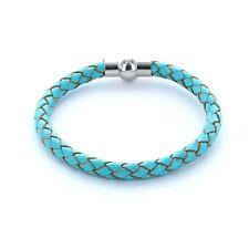 Lieblingsmensch® Armband Lederarmband 0,5cm geflochten Farbe: türkis