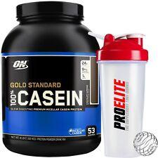 Optimum Nutrition 100% Casein Protein 4lb / 1.8kg + Shaker Micellar Slow Release
