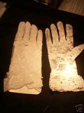 White lace wedding formal  gloves  short  size 14-16