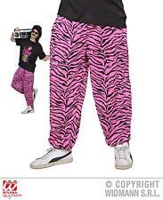 ANNI 80 90 Pantaloni Tuta Traningshose Rosa Zebra M/L, L/XL