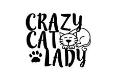 Crazy Cat Lady Car Decal / Sticker. Car Laptop Window Ipad Sticker. Cat Kitten