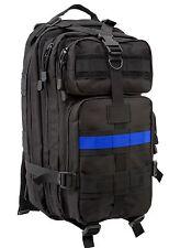 The Thin Blue Line Medium Transport Pack - Rothco Black TBL Backpack Bag