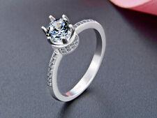 B22 006 Ring mit funkelndem weißen Zirkonia 925 Sterling Silber