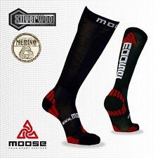 Moose slalom compresión calcetines, skisocken, medias calcetín caballero, plata fibra Allround
