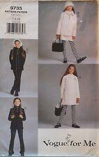 Amazing VOGUE 9735 Girls Jacket Top Jumper & Pants PATTERN 7-8-10/26-28.5B UC