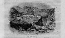 Stampa antica ALGERIA Veduta di Constantine 1840 Old Print