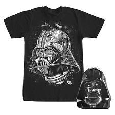New! Star Wars Darth Vader Head T-Shirt in Tin Gift Box Black