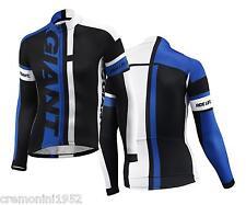 GIANT maglia bici ciclismo corsa mtb manica lunga long sleeve jersey bike blu GT