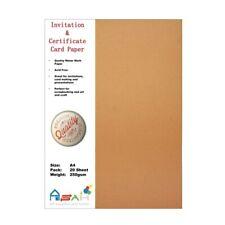 20pce Watermark Certificate / Invitation Card Paper 250gsm A4 Acid Free