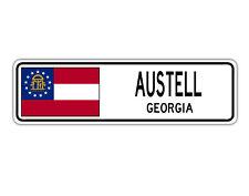 Austell, Georgia Street Sign Georgian Flag City Country Road Wall Gift
