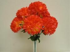 """Chrysanthemum Mum Ball Bush 10 Artificial Silk Flowers 19"""" Bouquet 2302"""