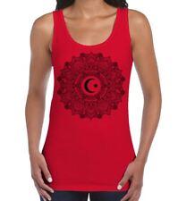 Islamic Crescent Mandala Large Print Women's Vest Tank Top