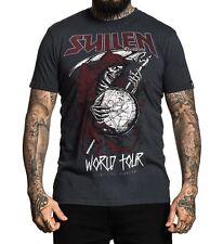 Sullen Pin Up Punk Street Bike Gothic Americana Tattoo Art Mens Tee WORLD TOUR