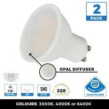 2 X 5W GU10 lámparas LED Ahorro de Energía amplio ángulo de haz vendedor del Reino Unido 80% ahorro 240V