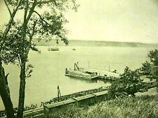 NEW YORK CENTRAL RAILROAD HUDSON RIVER TUG BOAT 1899 Print Matted