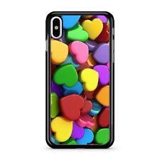 MOZZAFIATO colorato Amore Cuori Puro BLOCCHI Design 2D CUSTODIA COVER TELEFONO
