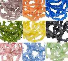 Cat Cat's Eye Fiber Optic Glass Chip Beads  - 30 COLORS -  32 inch Strand