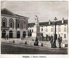 OSTIGLIA:Piazza Cornelio Nepote.Mantova.Lombardia.Bassa Padana.Passepartout.1891