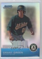 2010 Bowman Chrome Topps 100 Prospects Refractor TPC42 Grant Green Baseball Card