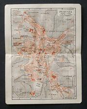 Antica Stampa Topografica.PERUGIA.UMBRIA1912.Meyers..