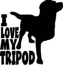 Love My Three Leg Dog Tripod Tripawd Special Decal Window Bumper Sticker Car