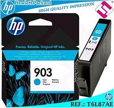 TINTA CIAN 903 ORIGINAL IMPRESORAS HP CARTUCHO CYAN HEWLETT PACKARD T6L87AE