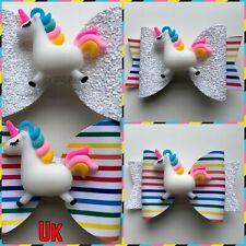 Conjunto de 1 cola de cerdo o Unicornio Boutique arcos del pelo Zapatos Topper