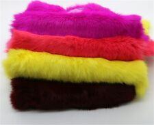 Dyed Rabbit Skin Pelt Real Leather Fur Hide 19 Colours Animal Training Garments