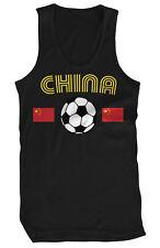 China Flag Country Pride Soccer Ball Team Dragon Football Team Fan Mens Tank Top