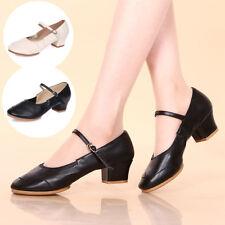 Women's Salsa Waltz Ballroom Latin Tango Soft Sole Dance Shoes heeled Sandals
