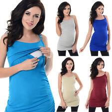 Purpless Basic Maternity Pregnancy Nursing Cami Vest Top with Adjust Straps 8021