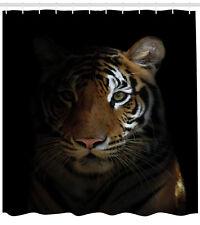 Tiger Shower Curtain King of Sundarbans Print for Bathroom