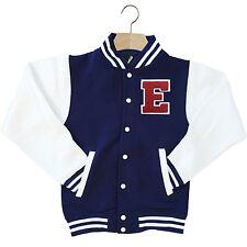 Varsity baseball veste unisexe personnalisé avec authentique us college lettre e