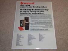 ESS Tempest Ad,1975, Heil Air Tweeter! Article, RARE!
