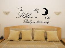Shh Bebé Soñando cuarto del Infantil dormitorio adhesivo para habitación pared