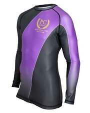 Graded Rash Guard Long Sleeve Purple BJJ MMA No-gi