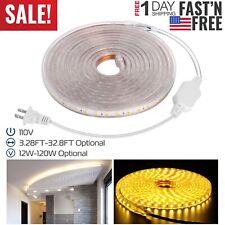1M 2M 3M 5M 10M 5050SMD LED Flexible Strip Light Warm/Cold White Tape Home Decor