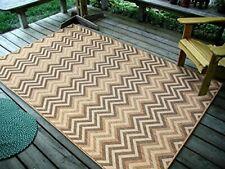 """4'5"""" x7' Geometric Zigzag, Netural BeigeIndoor & Outdoor Area Rug, 1112"""