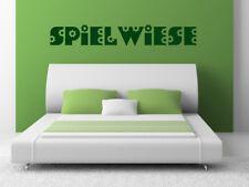 """S276 XL Wandtattoo """"SPIELWIESE"""" aufkleber Schlafzimmer Spruch Bett"""