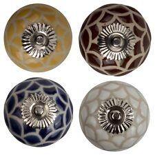 Möbelknopf Porzellan Möbelknauf Schublade Keramik Vintage Relief Spinnennetz II