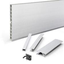 1,5m PVC 100/150mm Küchensockel Sockelblende Fußleiste Zubehör Farbe Aluminium