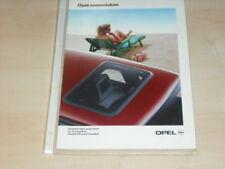 15718) Opel Sonnendächer Holland Prospekt 1990