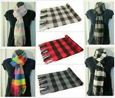 Wholesale Lot Women Men Winter Warm 100% Cashmere Check Plaid Scarf Wrap Soft