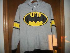 DC Comics Batman Gray Zipper Hoodie   NWT  L or XL