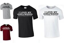 Me encanta mi Novia Para Hombre T Shirt divertido día de San Valentín Novio Regalo (Gf, Camiseta)