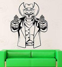 Wall Sticker Vinyl Decal Texas Cowboy Dead Mafia Gun Cool Room Decor (ig2184)
