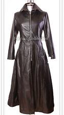 Jessica Ladies Gothic Vampire Leather Long Flare Coat