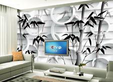 3D Bamboo Black 561 Wallpaper Murals Wall Print Wallpaper Mural AJ WALL AU Lemon