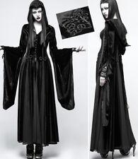 Manteau robe velours gothique mystique sorcière baroque mitaine capuche Punkrave